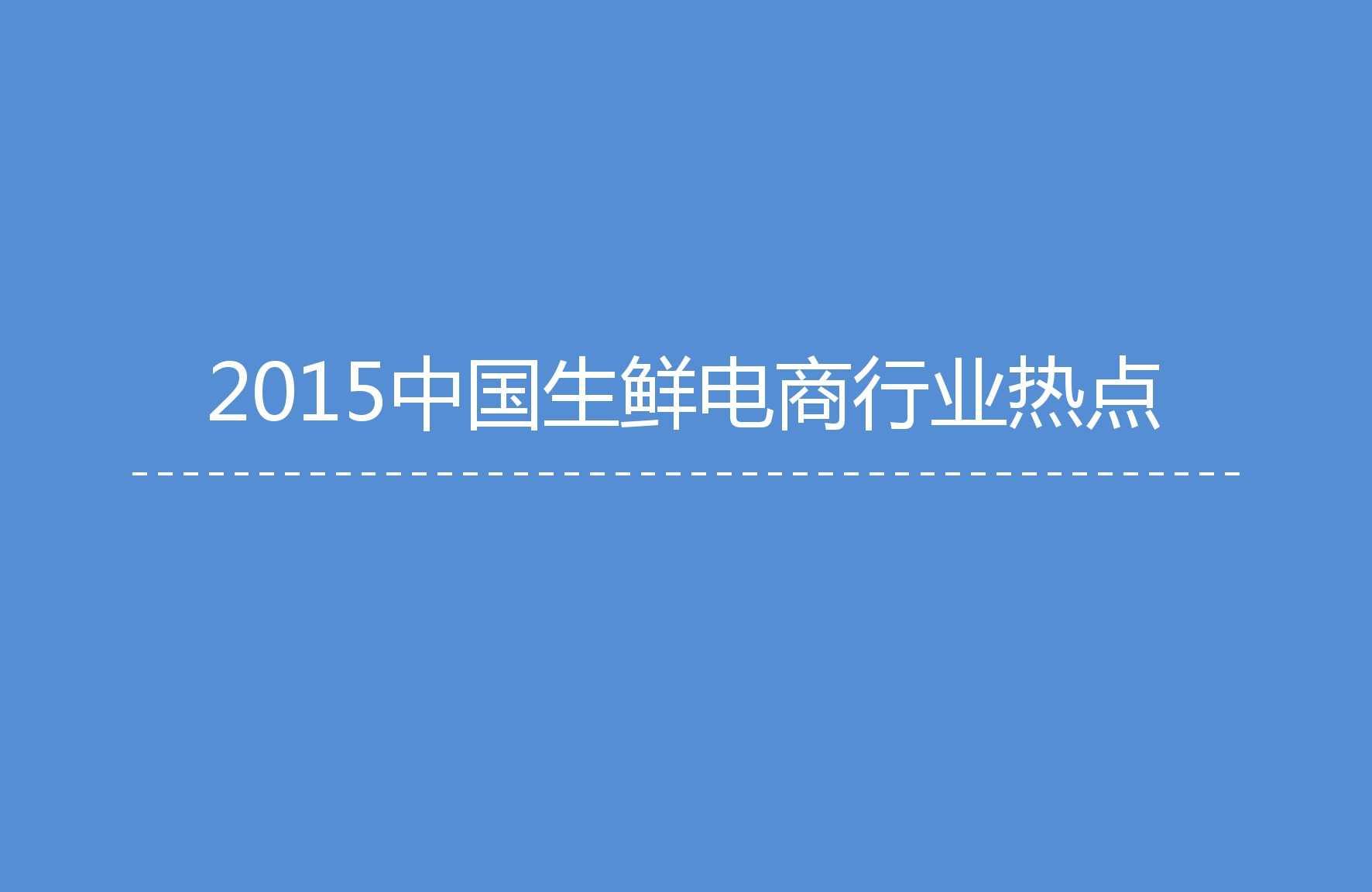 艾媒咨询:2015年中国生鲜电商市场研究报告_000005