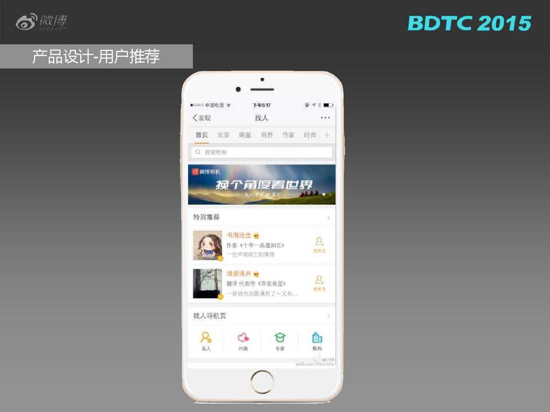 03 BDTC2015-新浪微博-姜贵彬-大数据驱动下的微博社会化推荐_000016