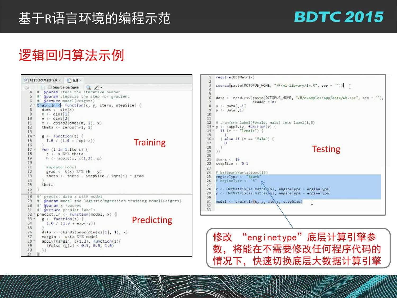 07 BDTC2015-南京大学-黄宜华-Octopus(大章鱼):基于R语言的跨平台大数据机器学习与数据分析系统_000126