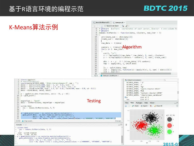 07 BDTC2015-南京大学-黄宜华-Octopus(大章鱼):基于R语言的跨平台大数据机器学习与数据分析系统_000127