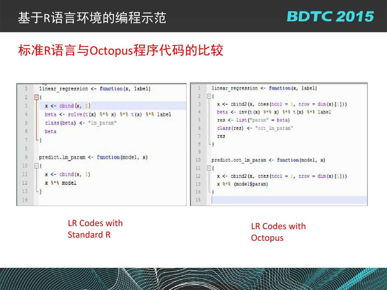 07 BDTC2015-南京大学-黄宜华-Octopus(大章鱼):基于R语言的跨平台大数据机器学习与数据分析系统_000129