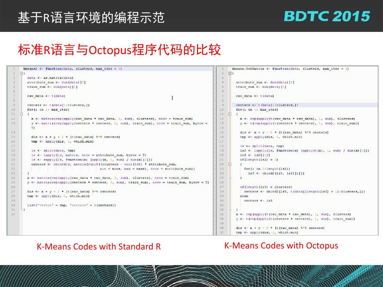 07 BDTC2015-南京大学-黄宜华-Octopus(大章鱼):基于R语言的跨平台大数据机器学习与数据分析系统_000130