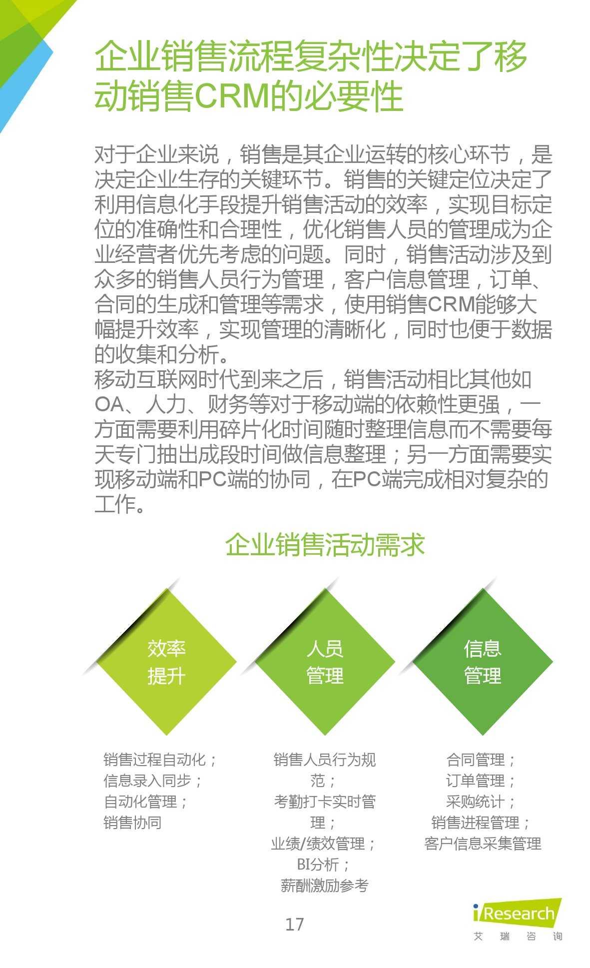 2015年中国移动销售CRM行业研究报告_000017