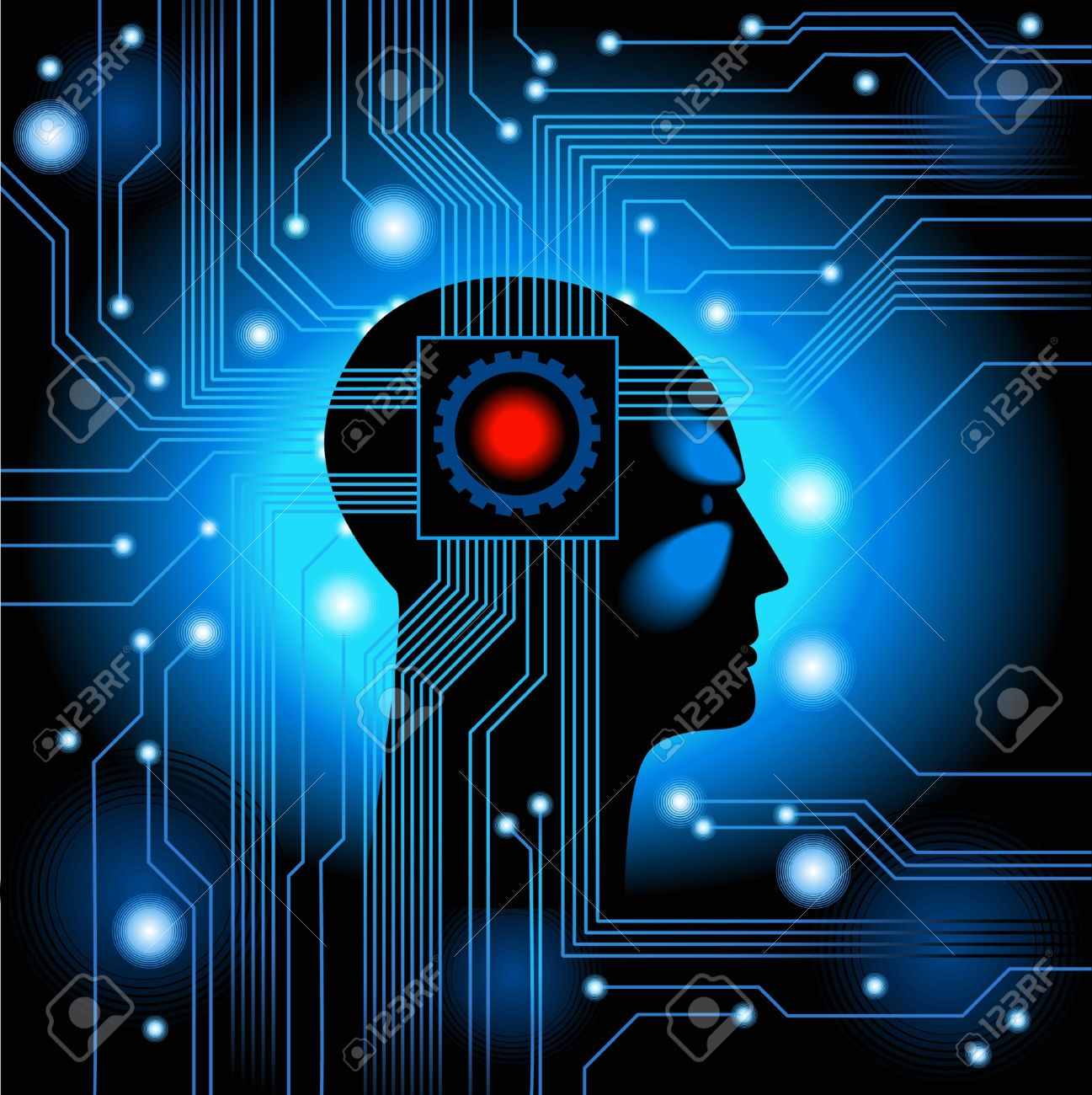 11763980-Human-Head-figure-the-concept-of-artificial-intelligence-Stock-Vector