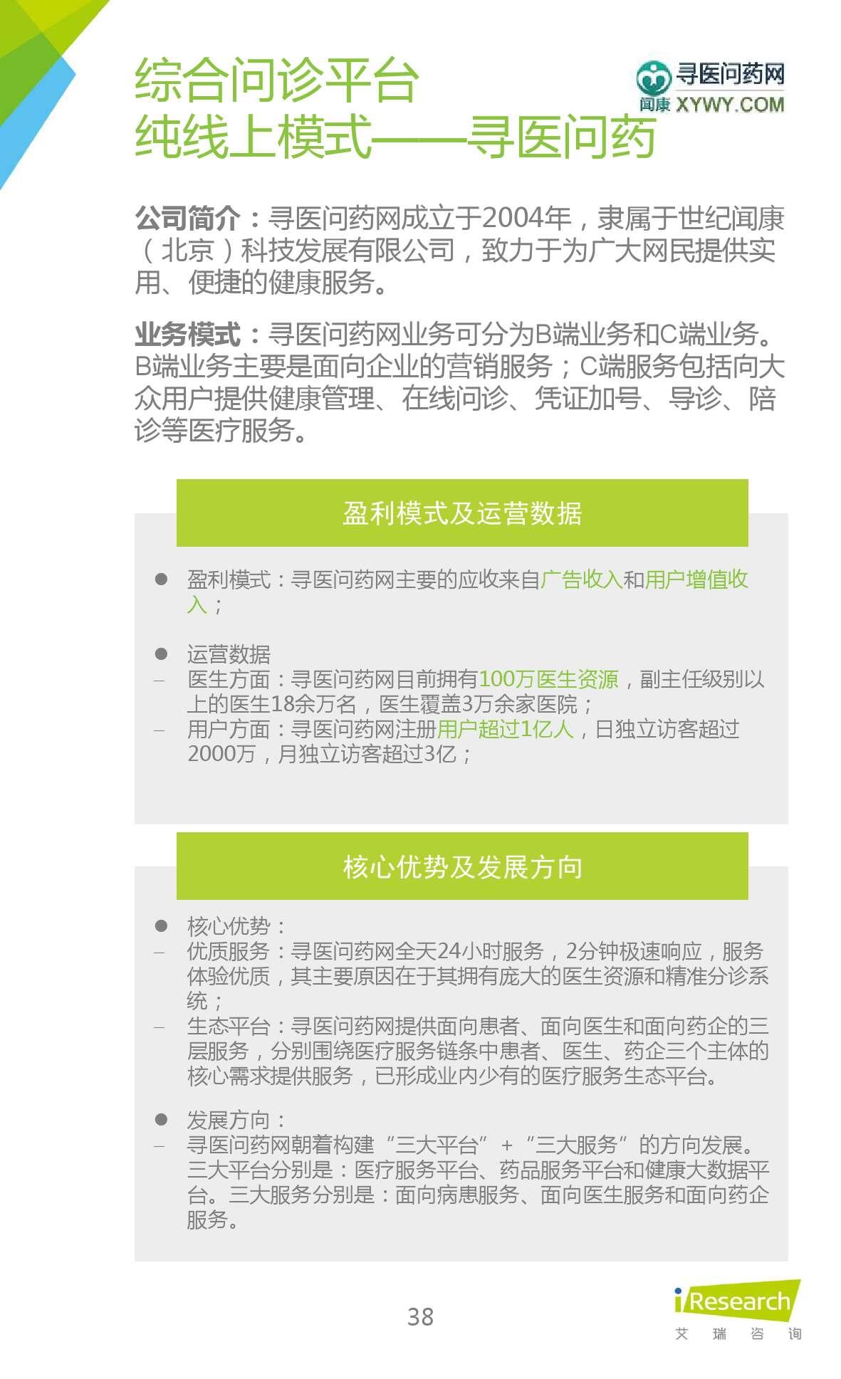 2015年中国在线问诊行业研究报告_000038
