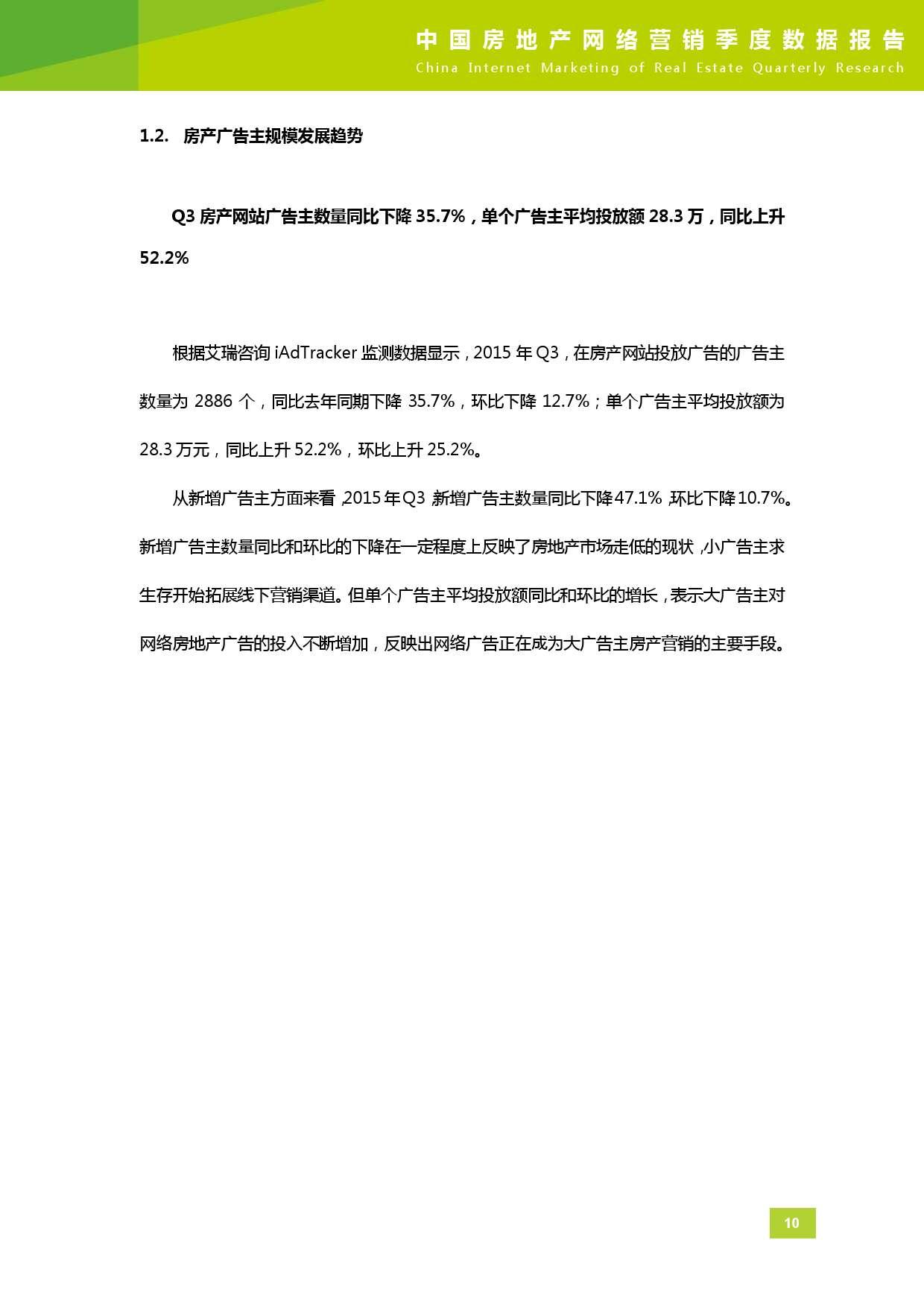 2015年Q3中国房地产网络营销季度数据报告_000011