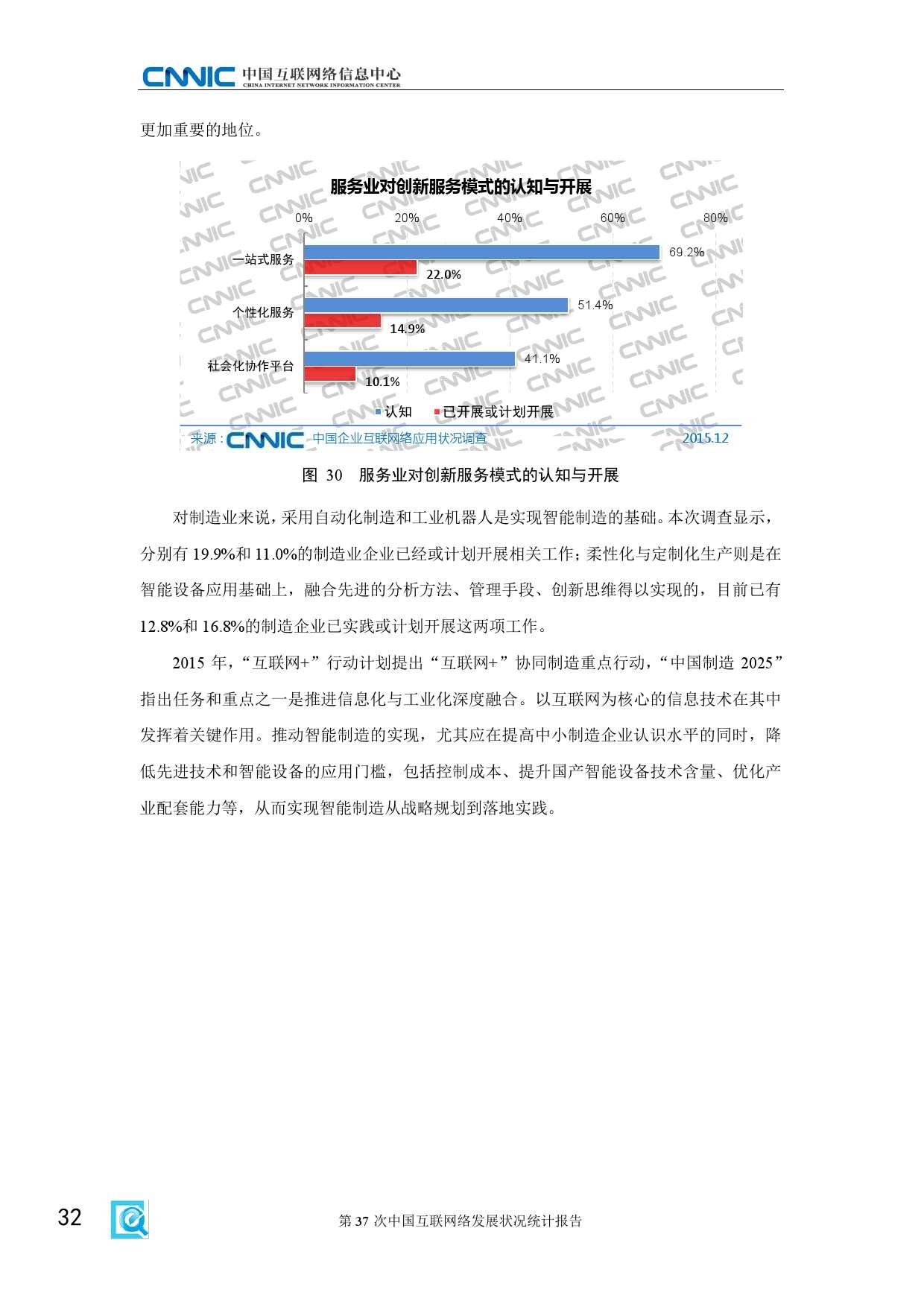 CNNIC:2015年第37次中国互联网络发展状况统计报告_000038