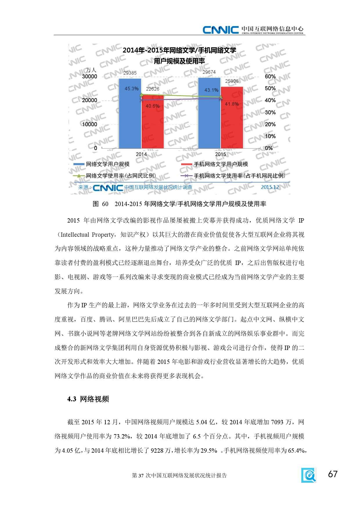 CNNIC:2015年第37次中国互联网络发展状况统计报告_000073