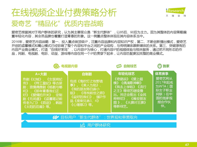 2015年中国在线视频用户付费市场研究报告_000047