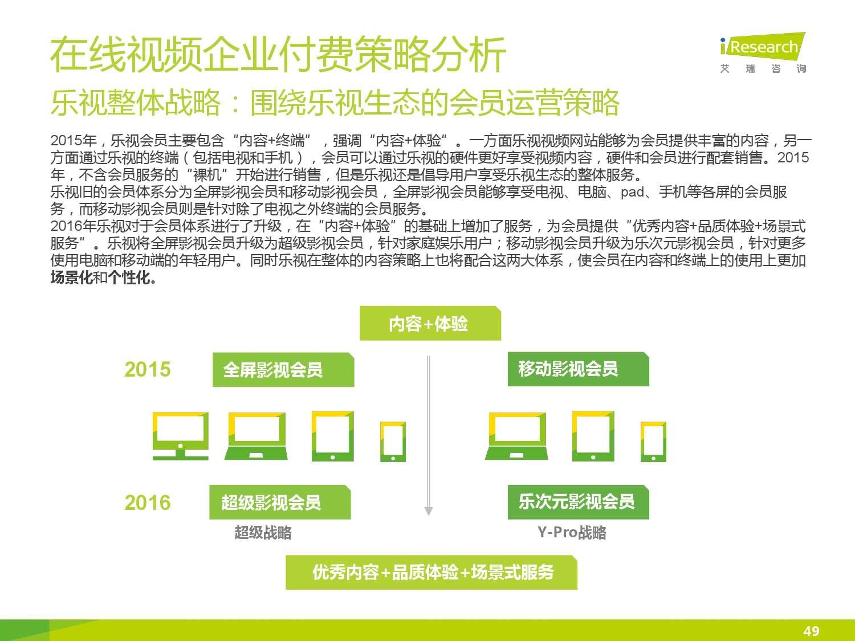 2015年中国在线视频用户付费市场研究报告_000049
