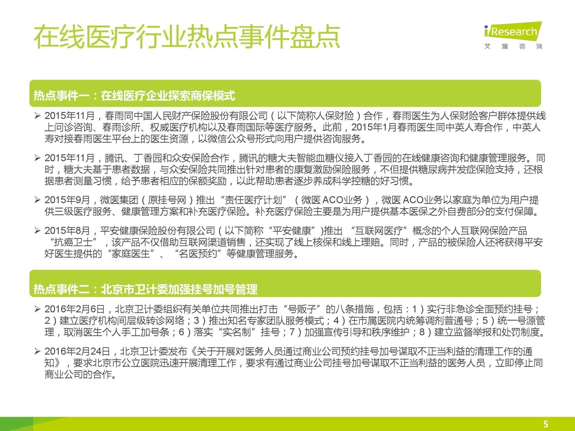2016年中国在线医疗行业数据监测报告_000005