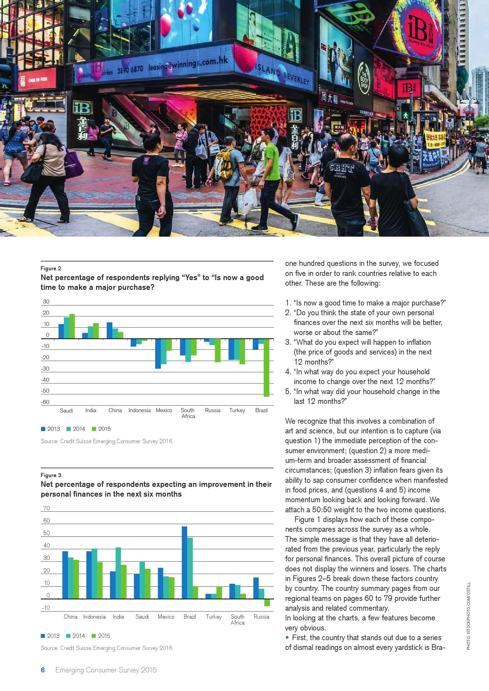 瑞士信贷:2016年新兴市场消费者调查报告_000006