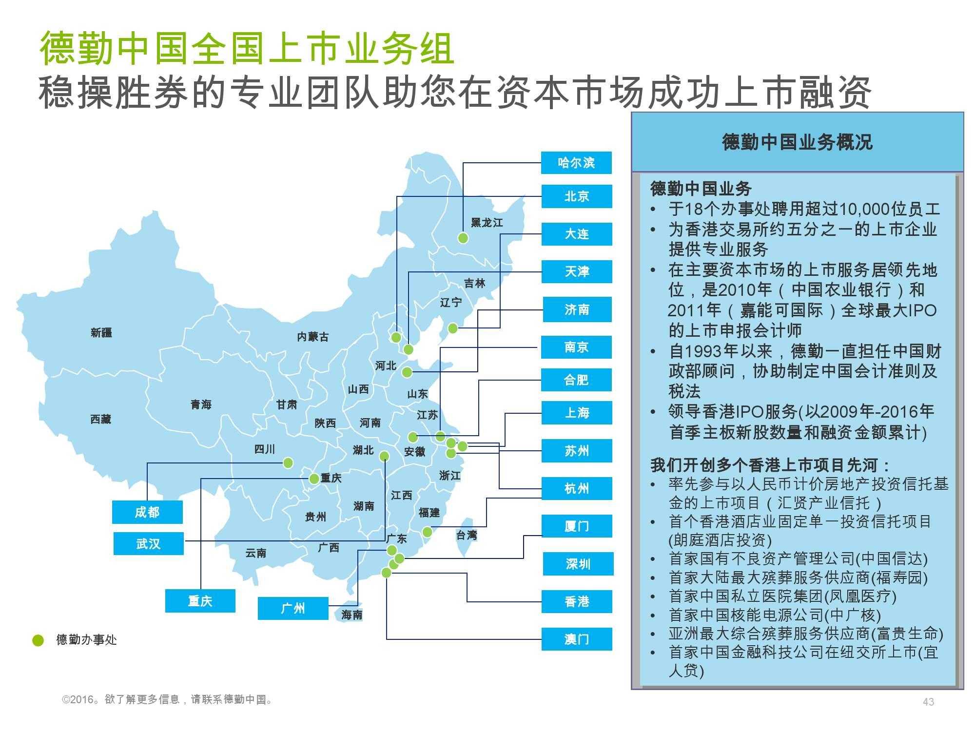 香港及中国大陆IPO市场2016年1季度_000043