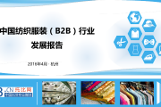 2015年中国纺织服装B2B行业发展报告(附下载)