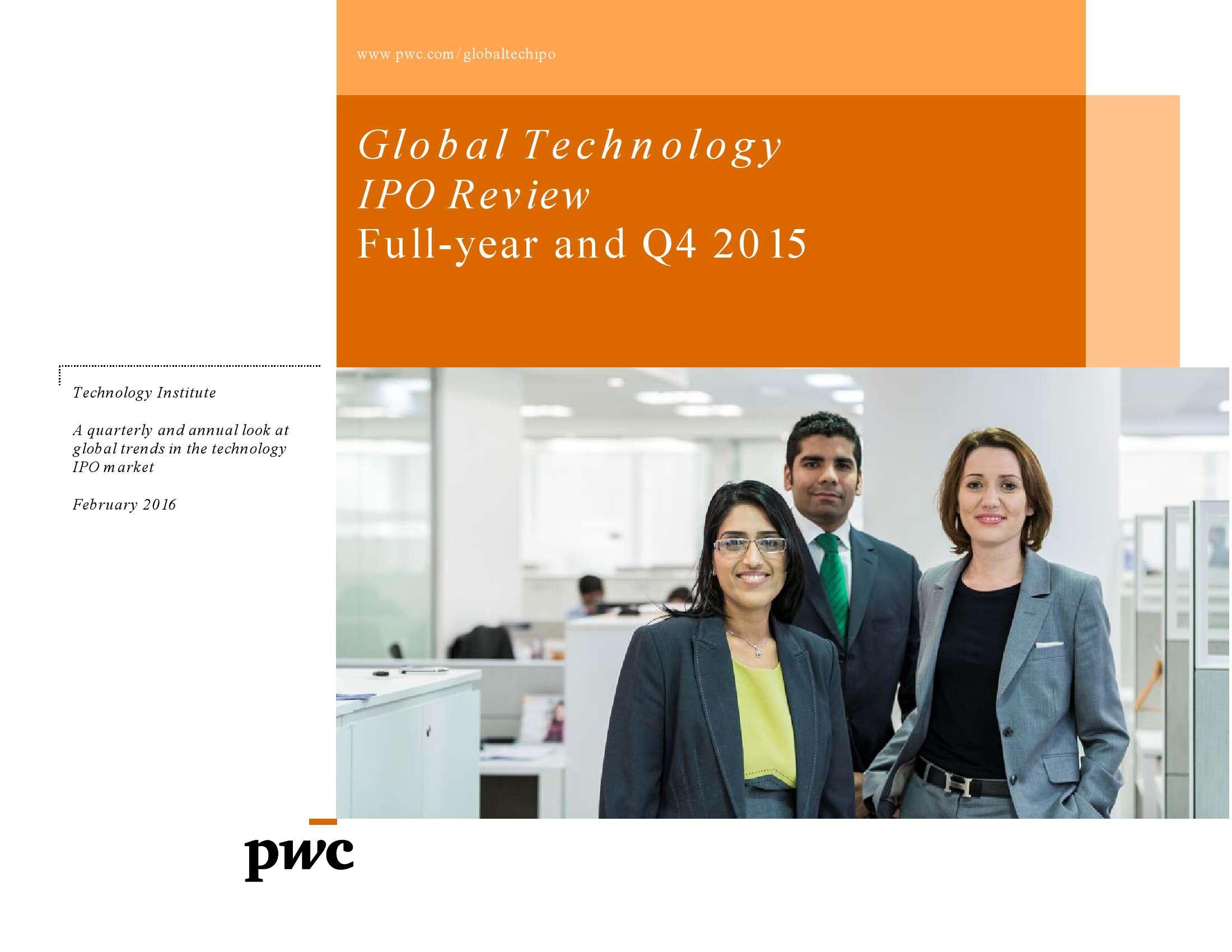 2015年全年及第四季度全球科技企业上市回顾_000001