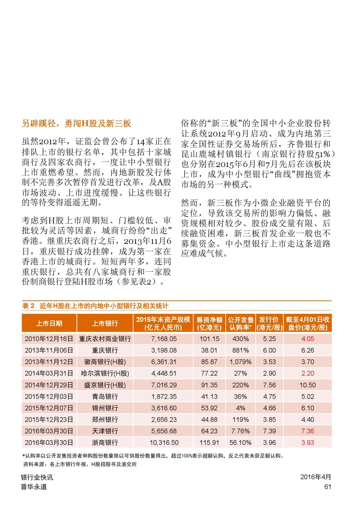 普华永道:2015年中国银行业回顾与展望_000061