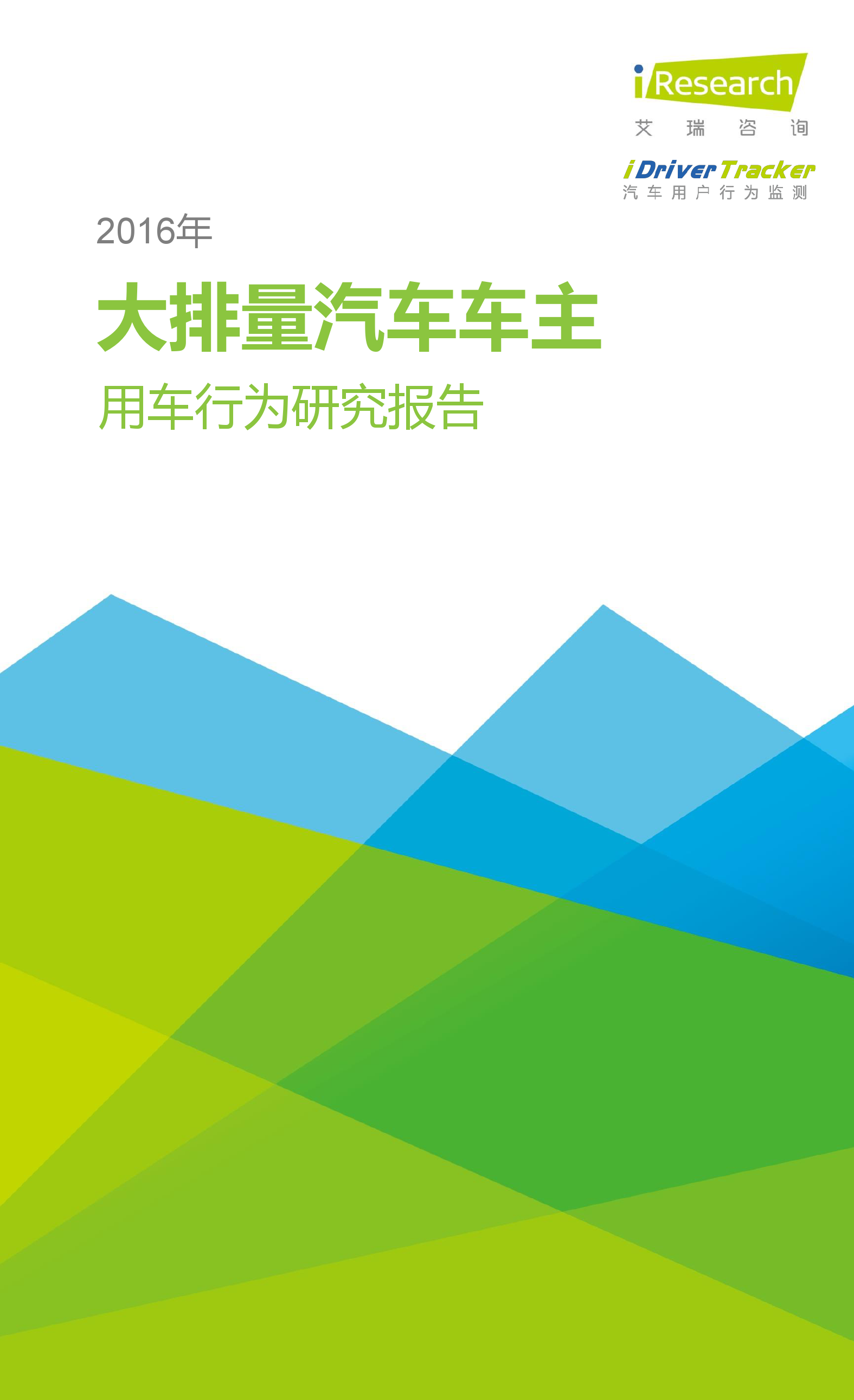 2016年大排量汽车车主用车行为研究报告_000001