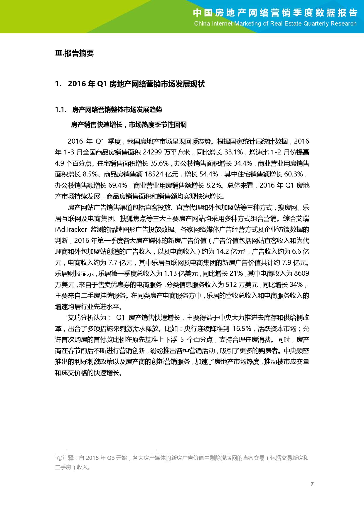 2016年Q1中国房地产网络营销季度数据报告_000008