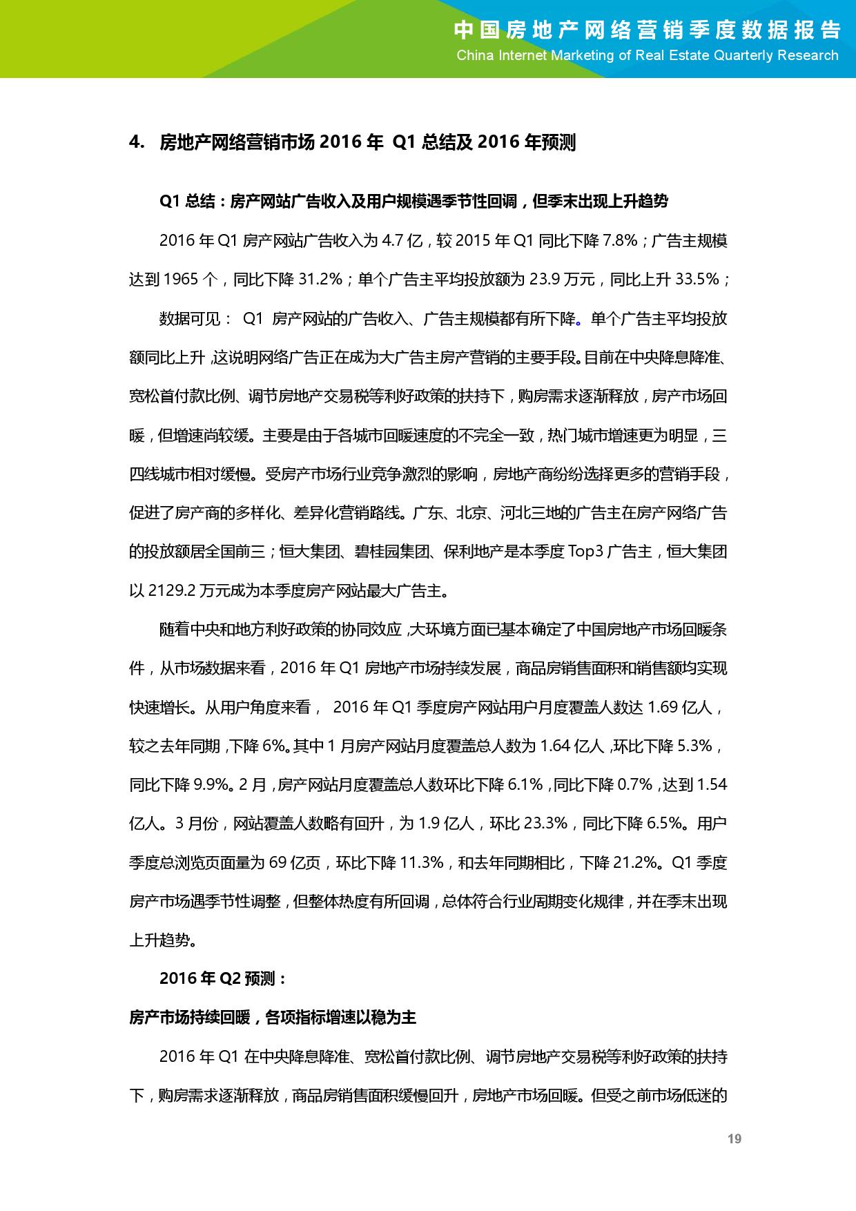2016年Q1中国房地产网络营销季度数据报告_000020