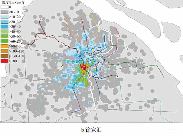 特定区域工作人口居住地分布-大数据环境下上海市综合交通特征分析