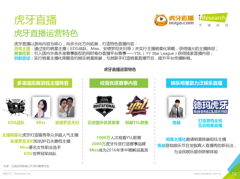 2016年中国电子竞技及游戏直播行业研究报告_000052