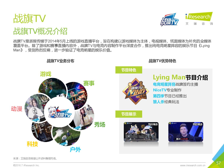 2016年中国电子竞技及游戏直播行业研究报告_000057