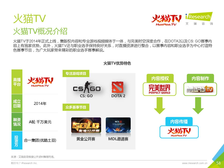 2016年中国电子竞技及游戏直播行业研究报告_000058