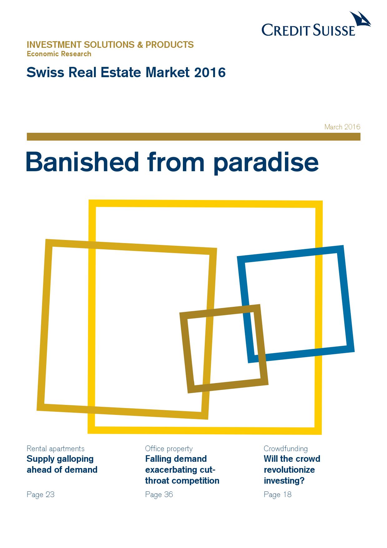 2016年瑞士房地产市场研究报告_000001