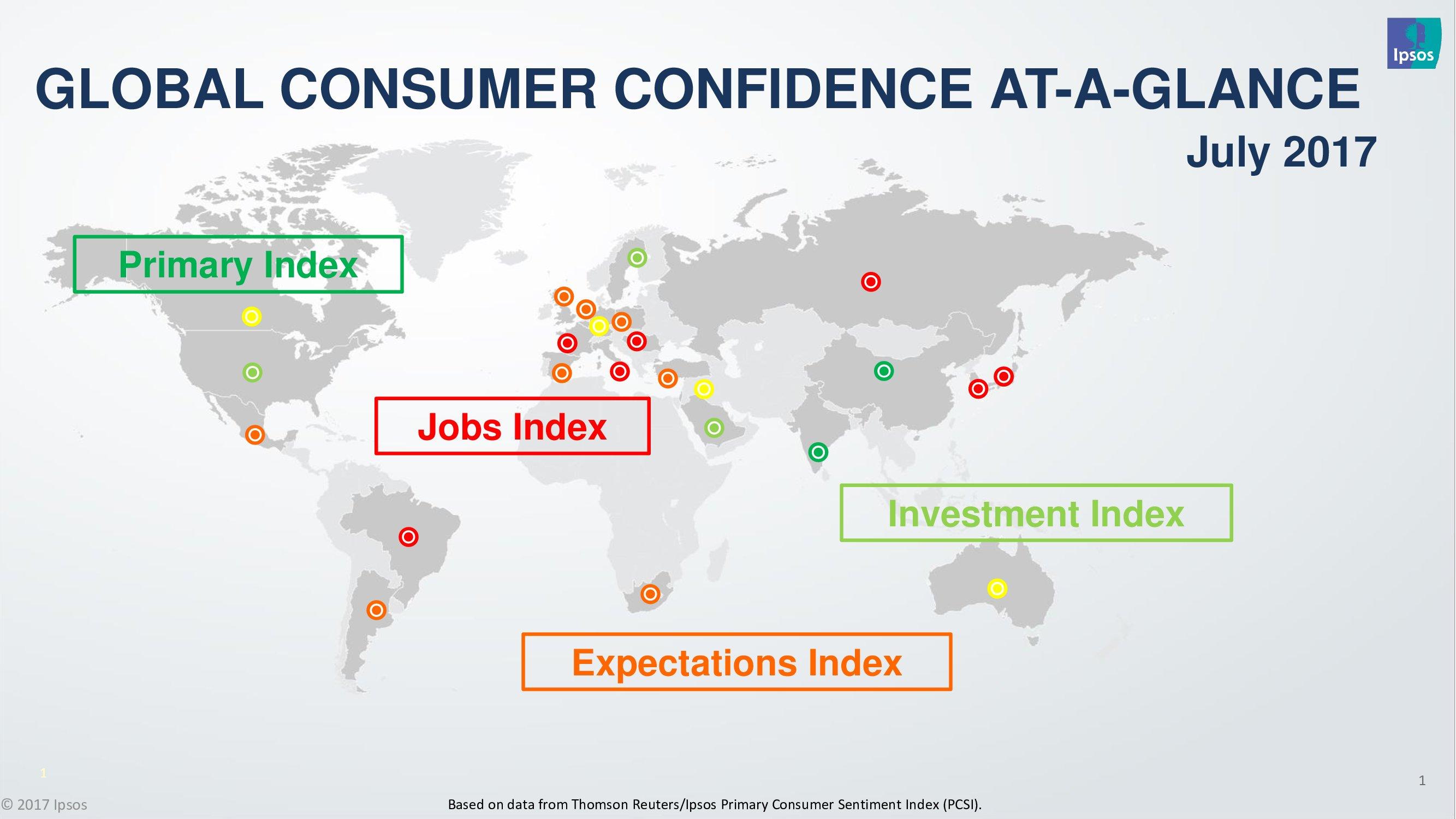 益普索:2017年全球消费者信心指数报告