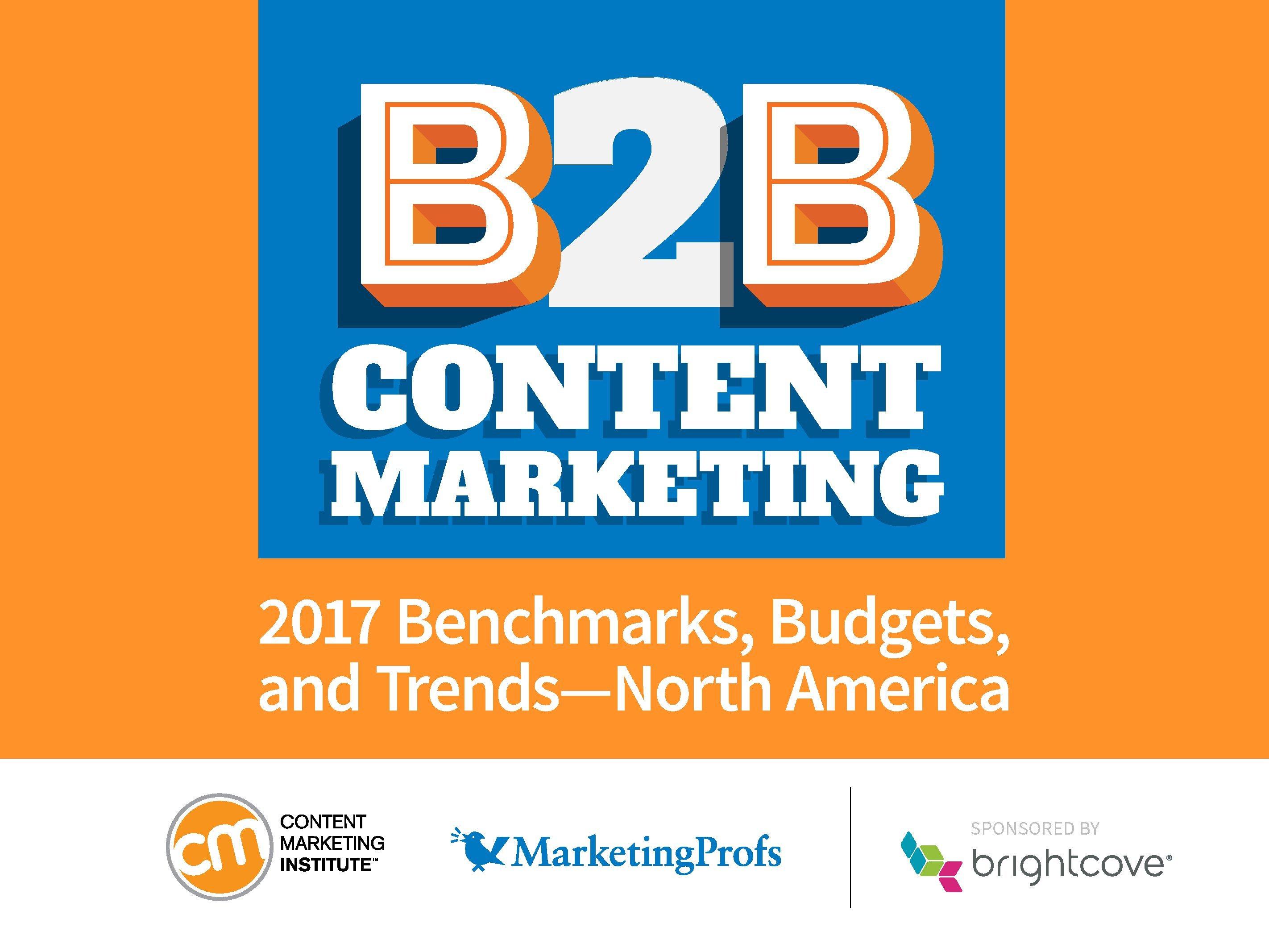 CMI:2017年B2B内容营销报告