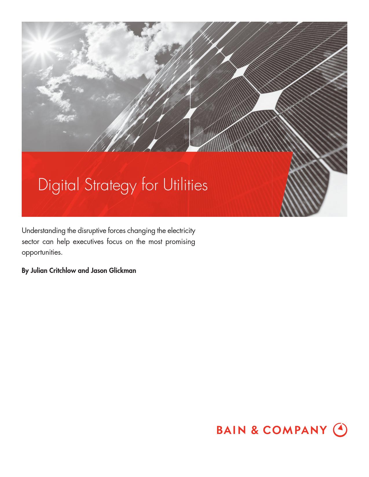 贝恩咨询:公共事业的数字化战略(附下载)