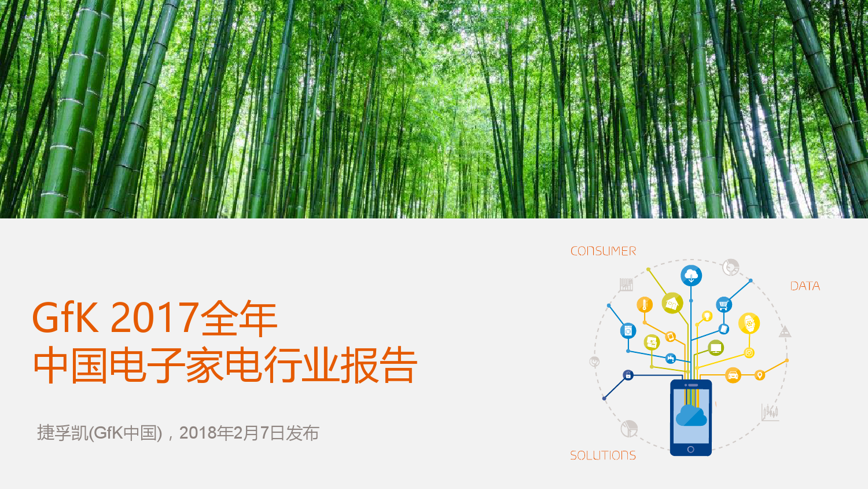 GfK:2017年中国电子家电行业报告(附下载)