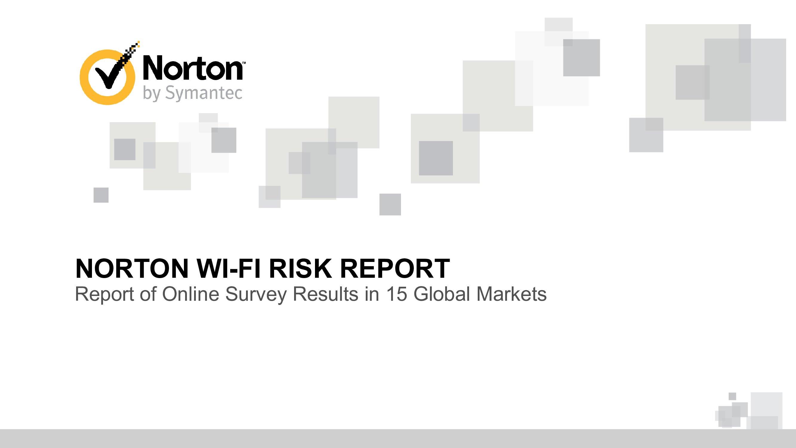 Norton:2017年全球Wi-Fi风险报告