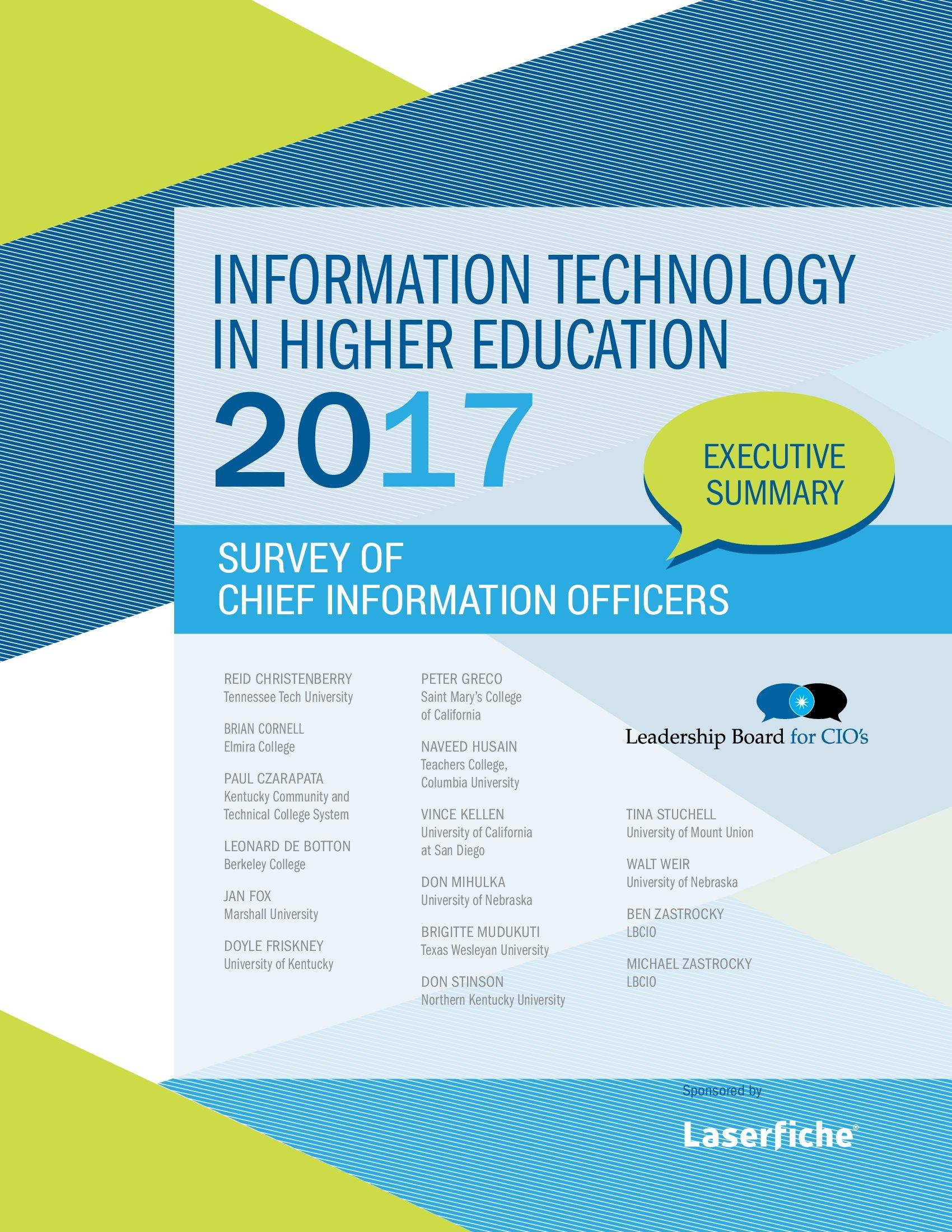 Laserfiche:2017年高等教育信息技术报告