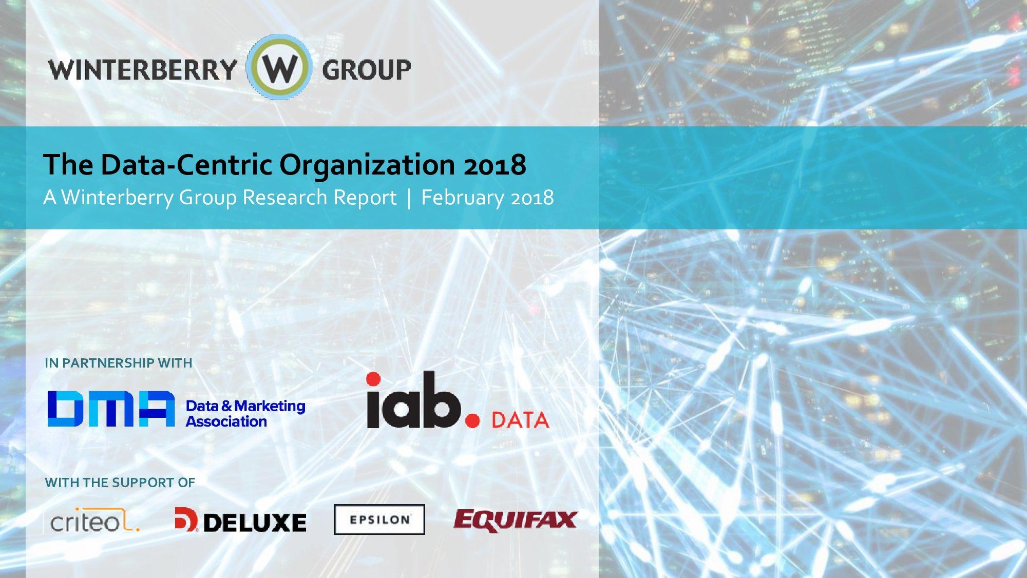 IAB:2018年以数据为中心的组织报告