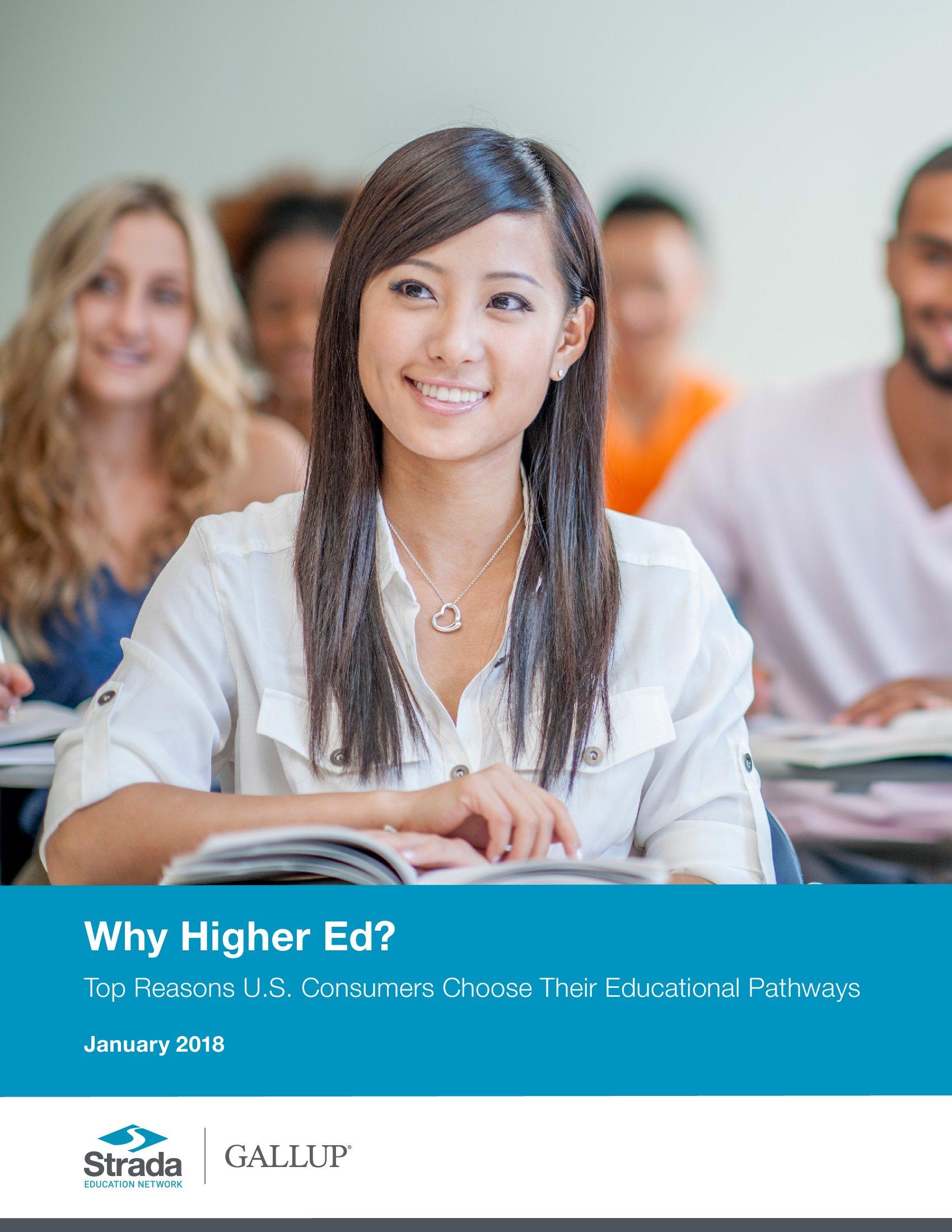 盖洛普:58%的美国人接受高等教育的目的是找份好工作