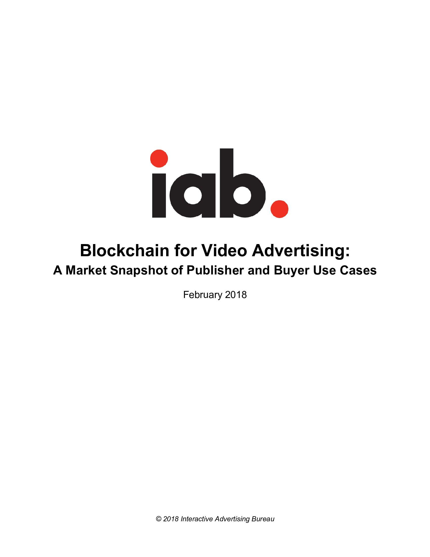 IAB:视频广告区块链报告