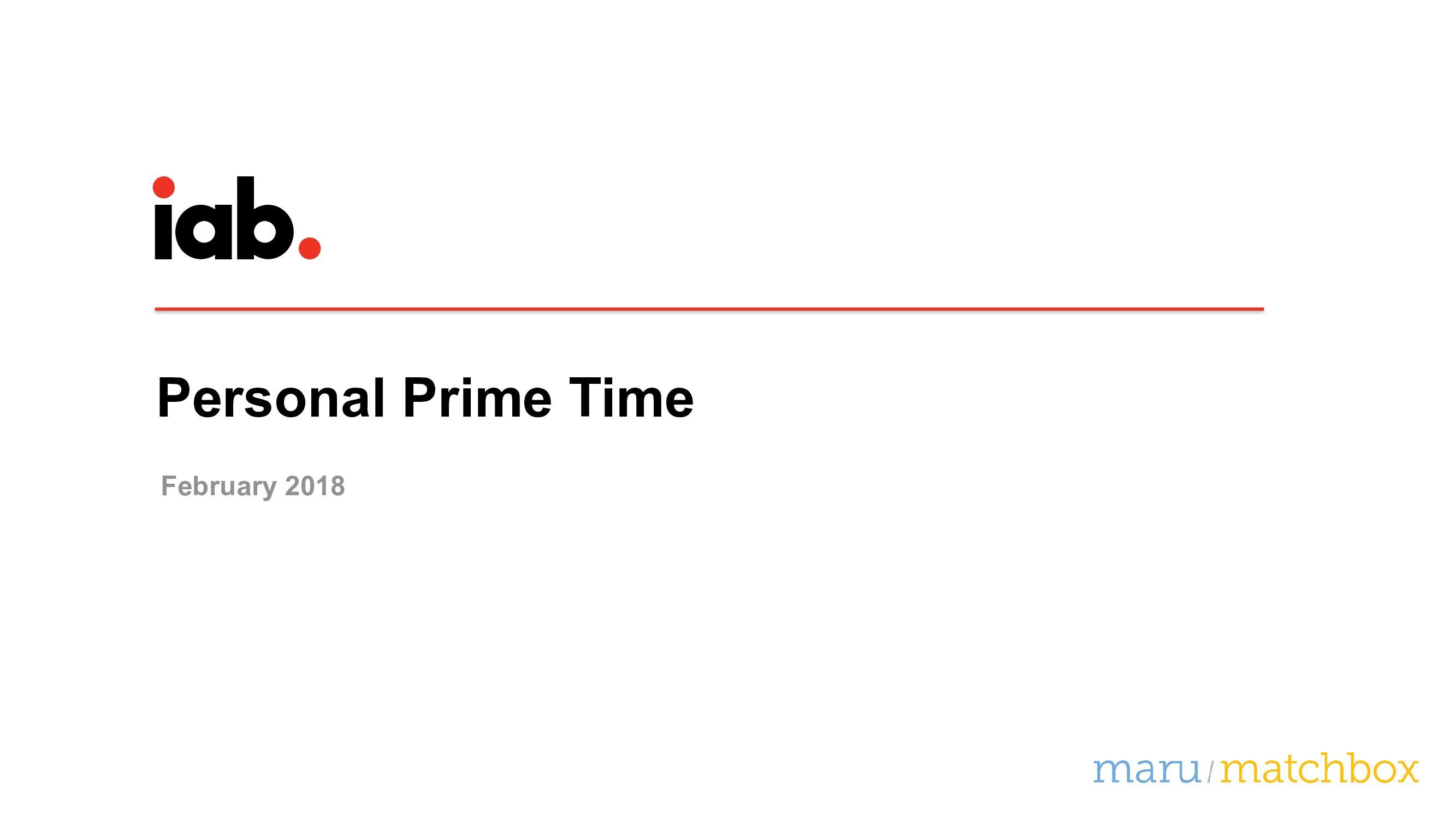 美国网民媒介接触报告:个人黄金时间