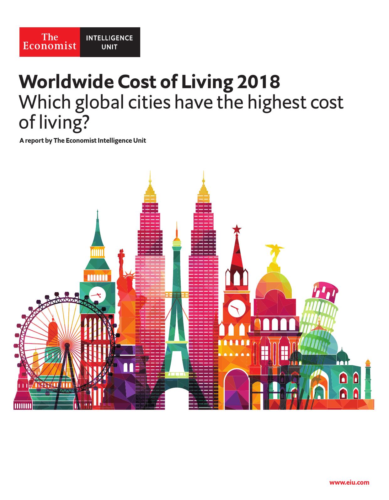 经济学人智库:2018年全球生活成本报告
