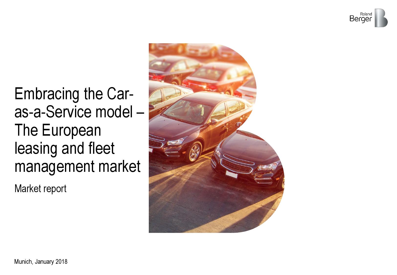 汽车即服务:车队管理解决方案供应商的中期机遇