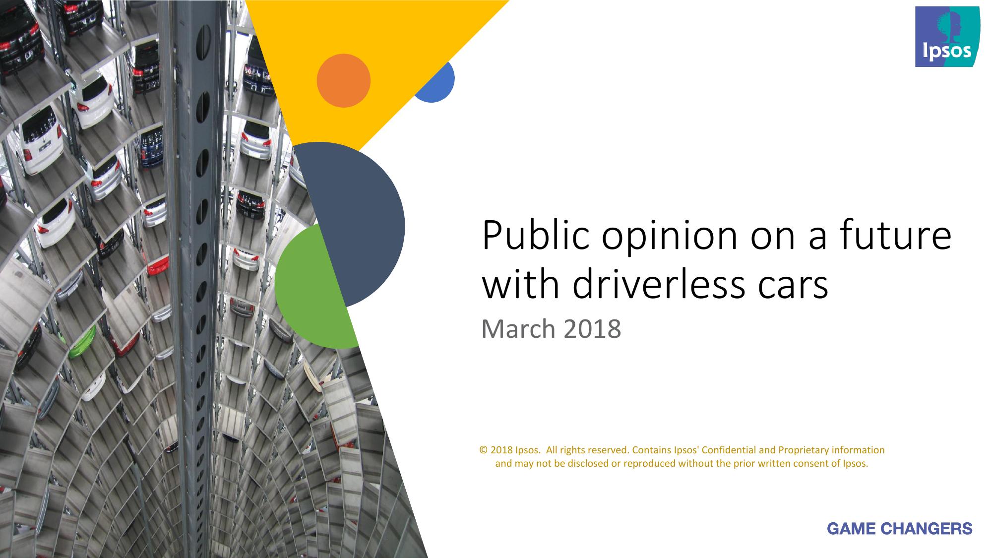 益普索:2018无人驾驶汽车消费者调查