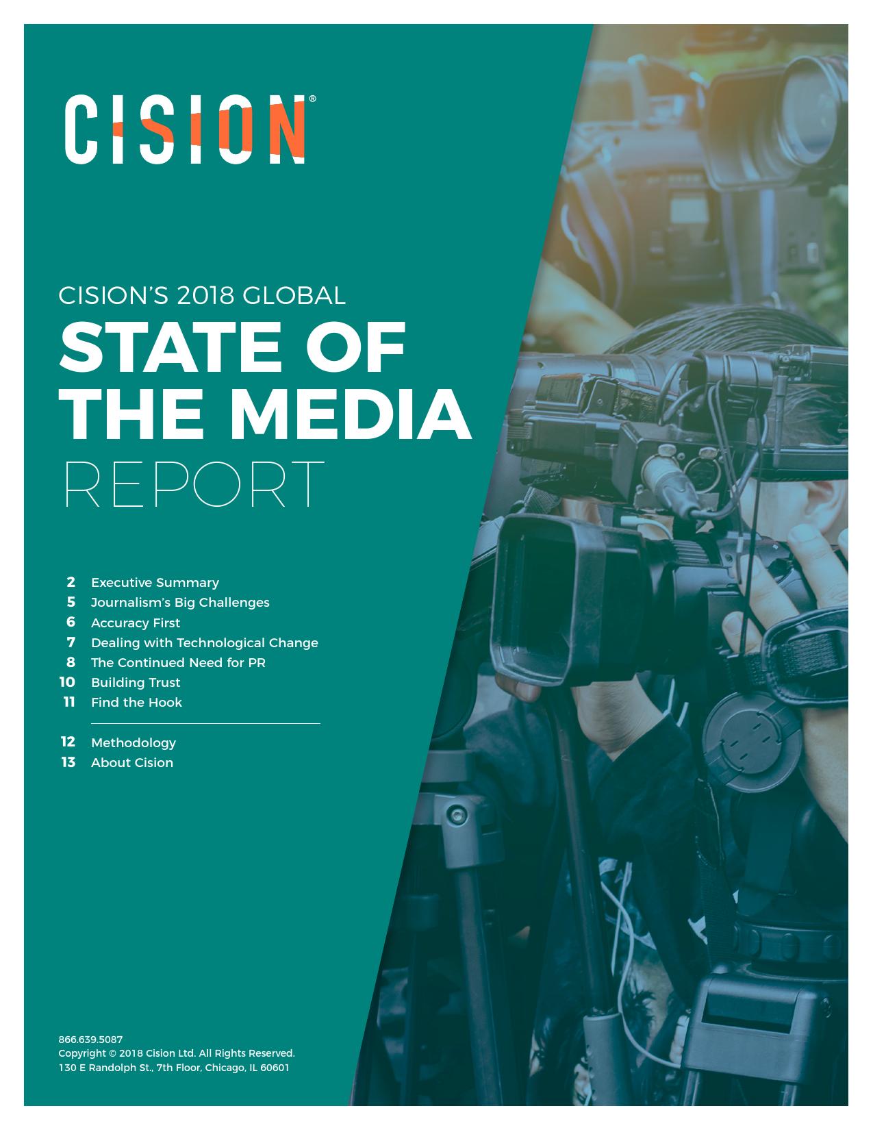 Cision:2018全球媒体现状报告