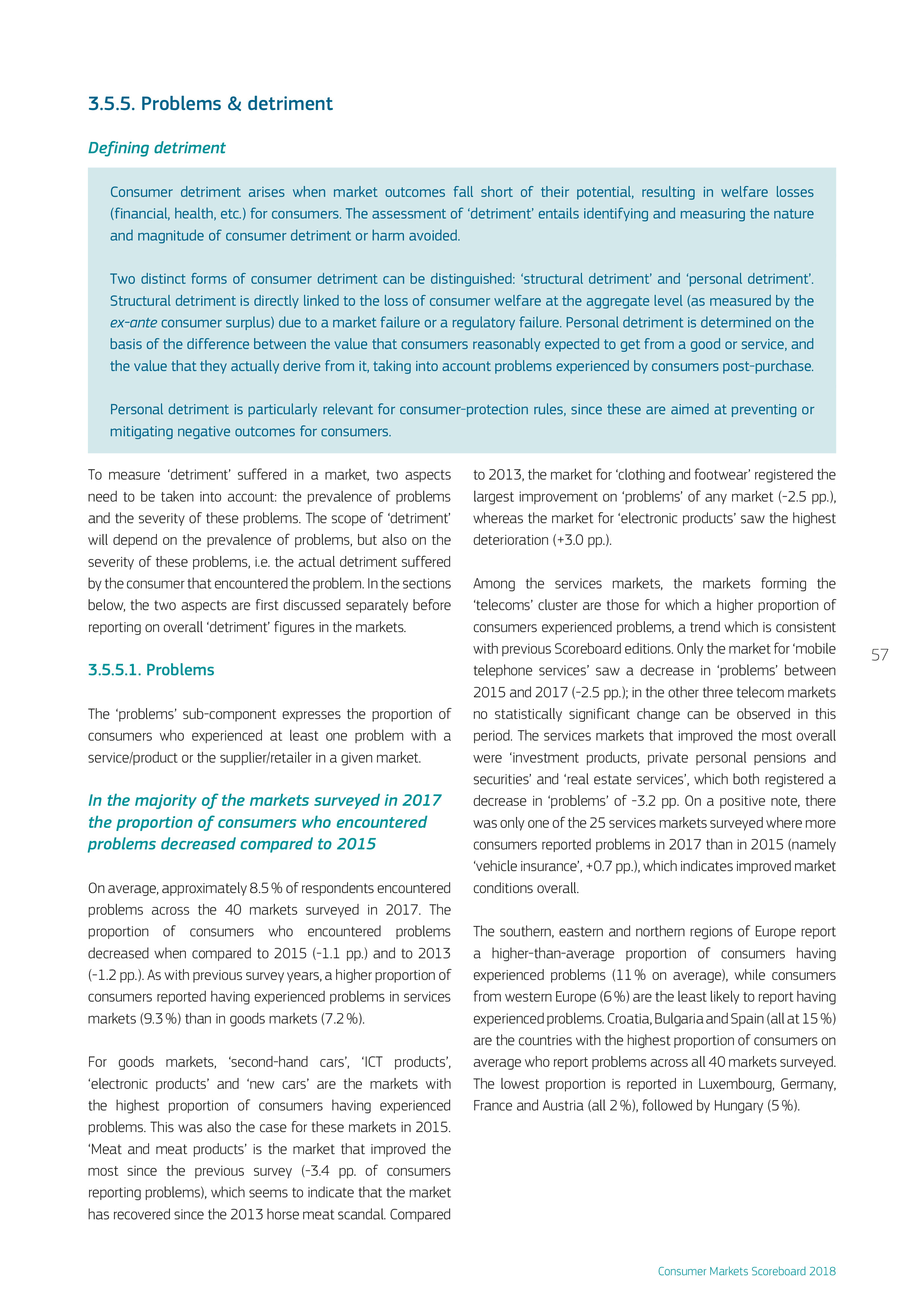 欧盟委员会:2018年消费市场记分榜