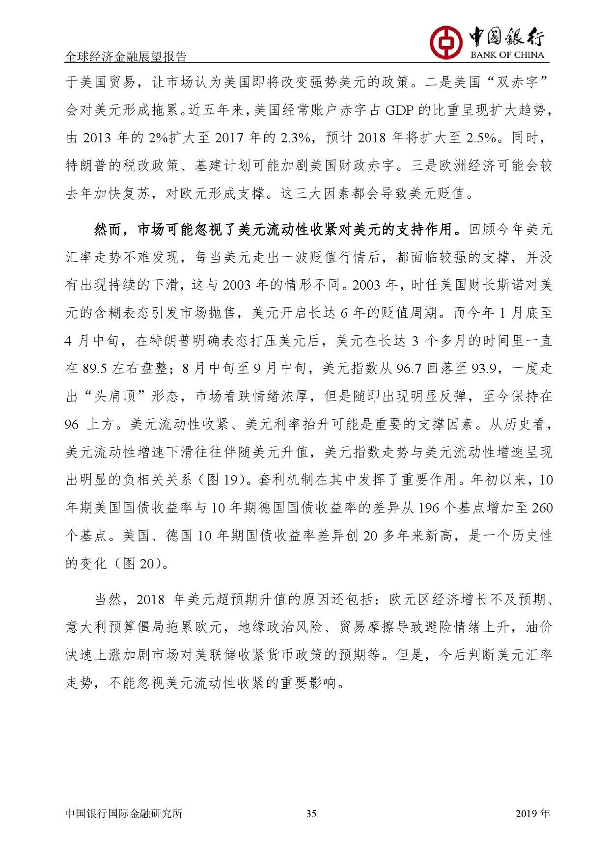 2019年经济报告_中国银行 2019年经济金融展望报告 Useit 知识库