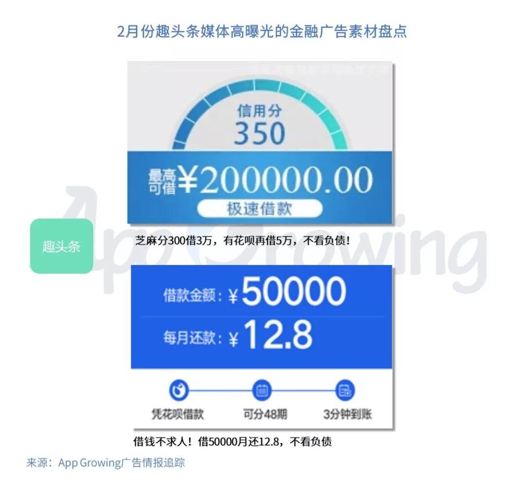 App Growing:2019年2月份金融行业 App 移动广告投放分析-CNMOAD 中文移动营销资讯 12