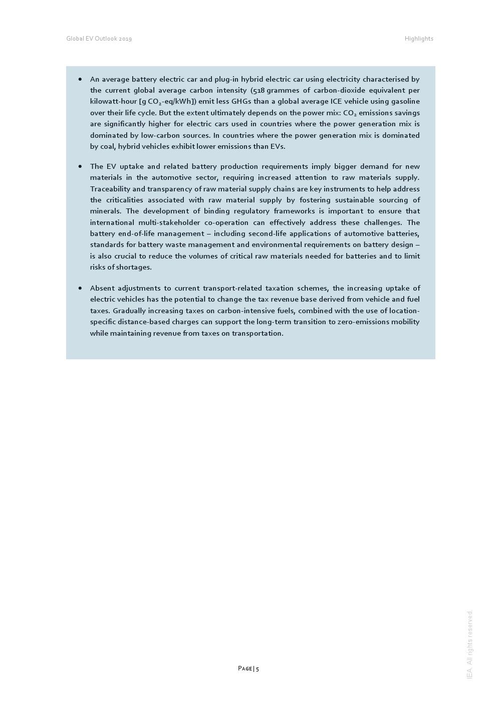 IEA:2019年全球电动汽车报告