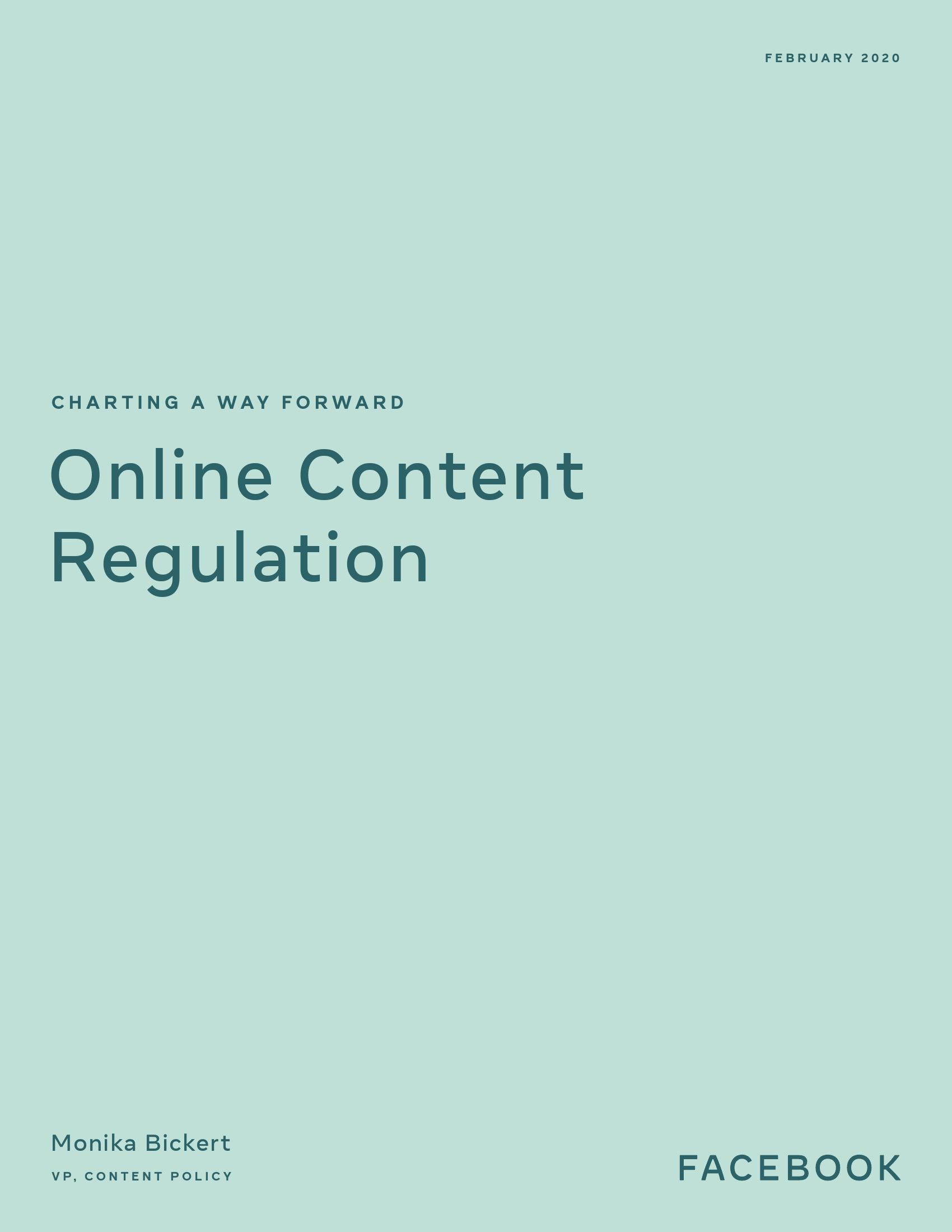绘制前进道路:在线内容监管(附下载)
