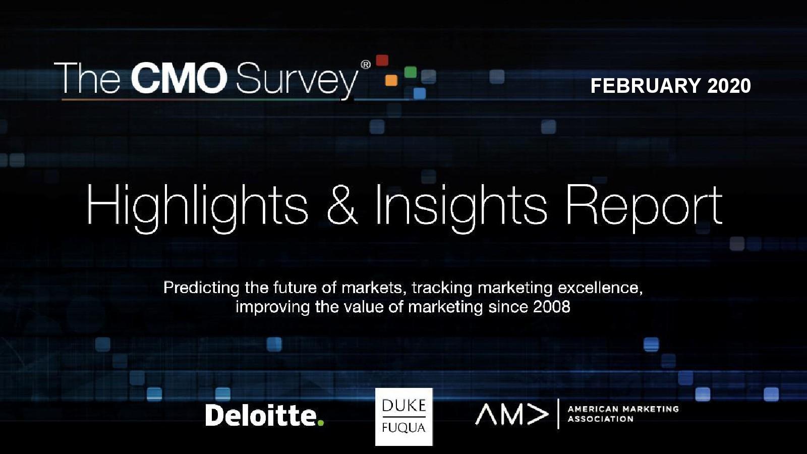 德勤咨询:2020首席营销官(CMO)调查报告
