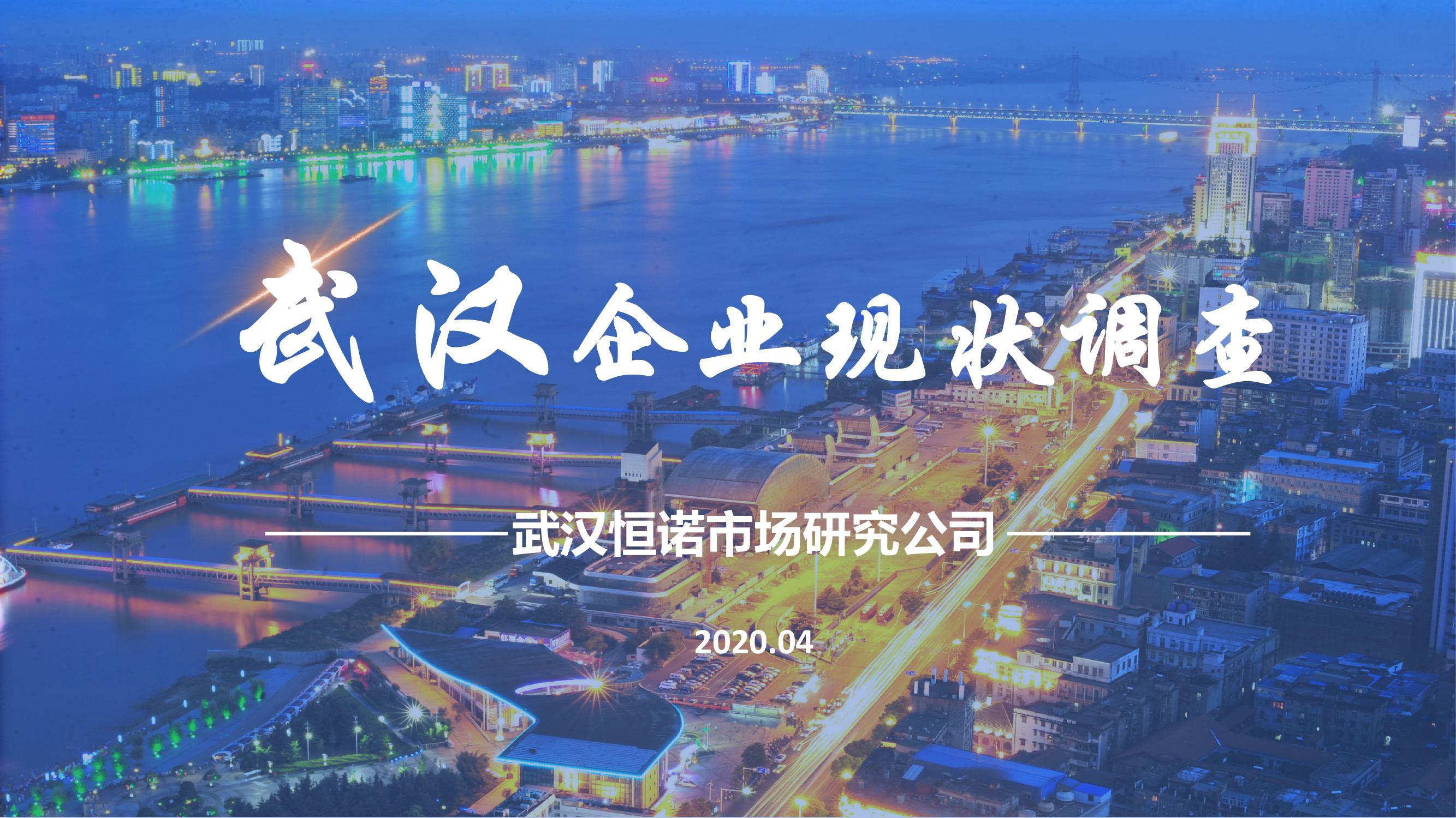 恒诺:武汉企业现状调查报告