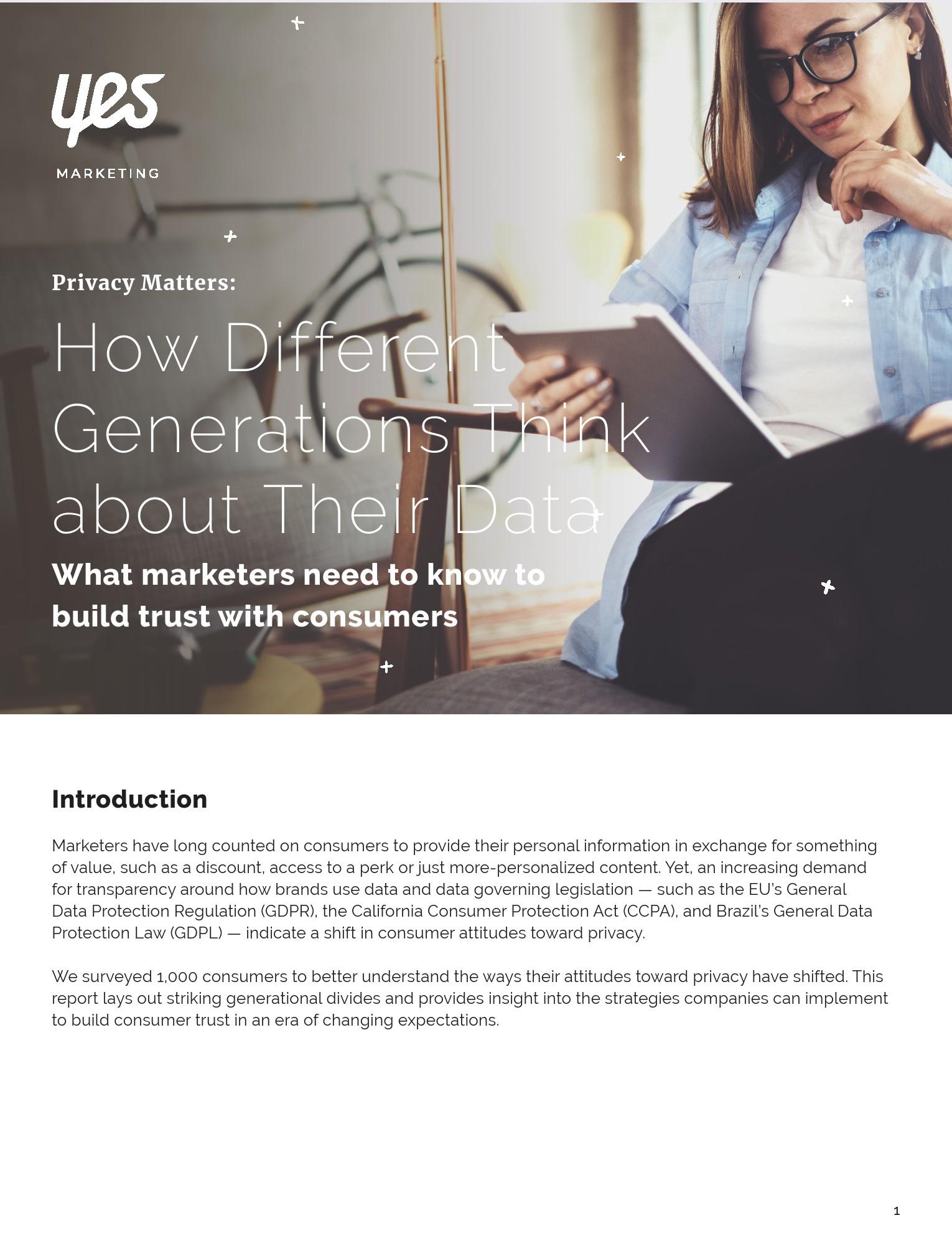 Yes Marketing:不同世代对数据的态度